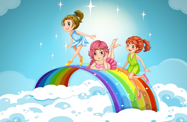 Valahol fent az égben három kicsi tündér egy felhő szélén kukucskált lefelé a Földre. Levendula, Menta és Akác már nagyon várták, hogy lemehessenek, és segíthessenek egy gyermeknek. Hiszen ez volt a dolguk: szépséget és boldogságot vinni a világba.