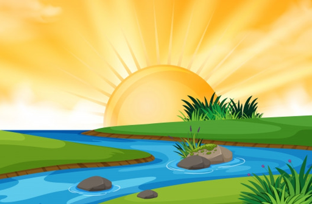 Egyszer egy nagyon meleg nyári napon Lola a nyár tündér elindul körülnézni a vízparton, hogy minden rendben van e. Ahogy repült és repült, egyre melegebbnek érezte a levegőt. Lassan két hete, hogy semmi csapadék nem esett, az idő viszont szinte forróvá vált. Ahogy odaért a partra, a csodálkozása tovább fokozódott, az összes növény kókadozott, az emberek az árnyékba menekültek, az állatok szintén napmentes környezet után néztek.